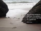 We all leave footprints in the sand