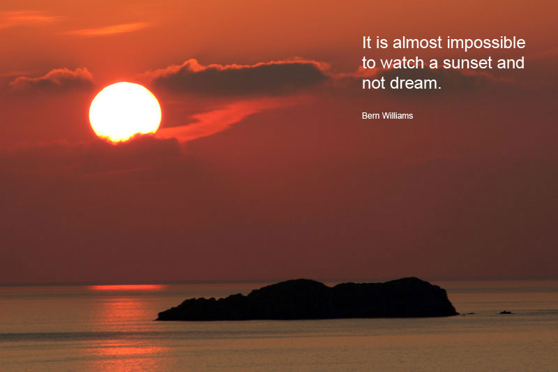 It is almost impossible to watch a sunset