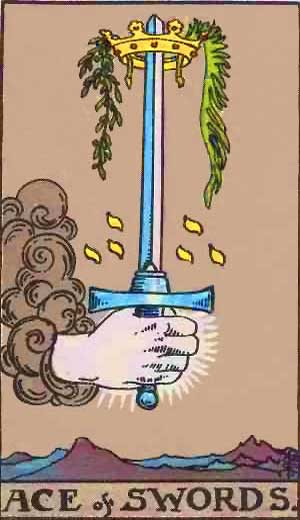 Ace of Swords - Tarot Love Relationship Outcome & Reversed