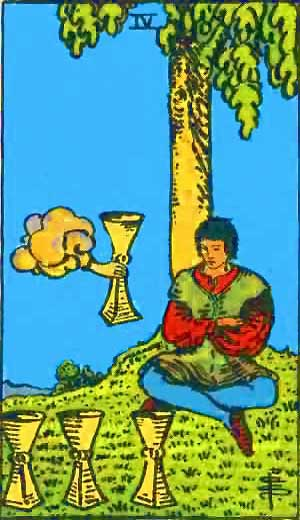 Four of Cups - Tarot Love Relationship Outcome & Reversed