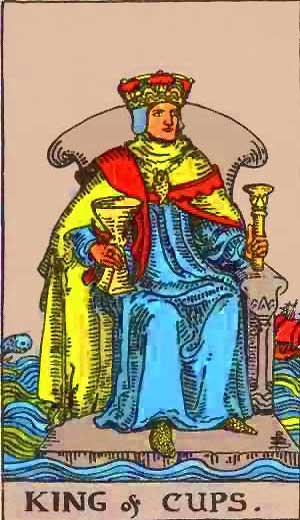 King of Cups - Tarot Love Relationship Outcome & Reversed