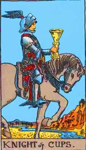 Knight of Cups - Tarot Love Relationship Outcome & Reversed