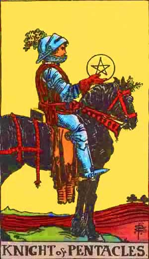 Knight of Pentacles - Tarot Love Relationship Outcome & Reversed