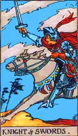 Knight of Swords - Tarot Love Relationship Outcome & Reversed
