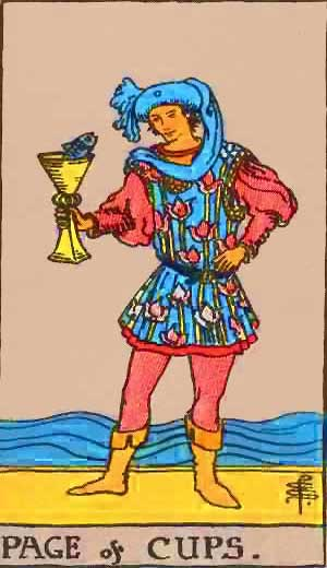 Page of Cups - Tarot Love Relationship Outcome & Reversed