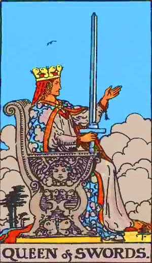 Queen of Swords - Tarot Love Relationship Outcome & Reversed