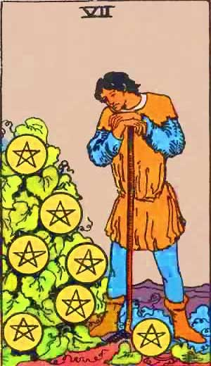 Seven of Pentacles - Tarot Love Relationship Outcome & Reversed