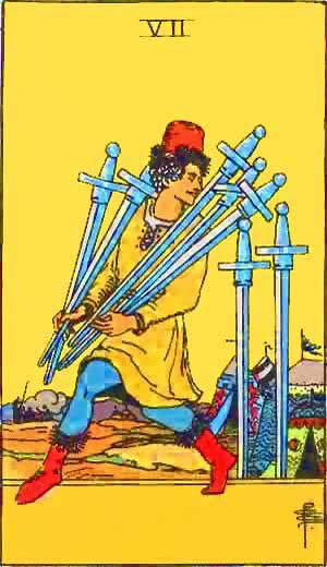 Seven of Swords - Tarot Love Relationship Outcome & Reversed
