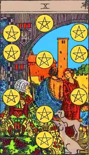 Ten of Pentacles - Tarot Love Relationship Outcome & Reversed